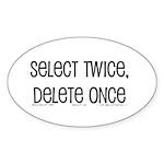 select twice Oval Sticker (50 pk)