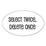 select twice Oval Sticker (10 pk)