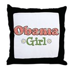 Obama Girl Obama Throw Pillow