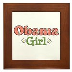 Obama Girl Obama Framed Tile