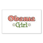 Obama Girl Obama Rectangle Sticker 50 pk)
