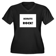Scouts ROCK Women's Plus Size V-Neck Dark T-Shirt