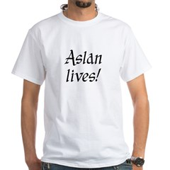 Aslan Lives! White T-Shirt