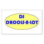 DJ DROOLS-A-LOT Rectangle Sticker