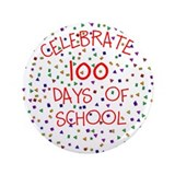 "100 Days Of School 3.5"" Button (100 pack)"