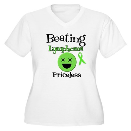 Beating Lymphoma Women's Plus Size V-Neck T-Shirt