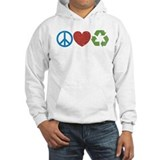 Peace, Love, Recycle Hoodie