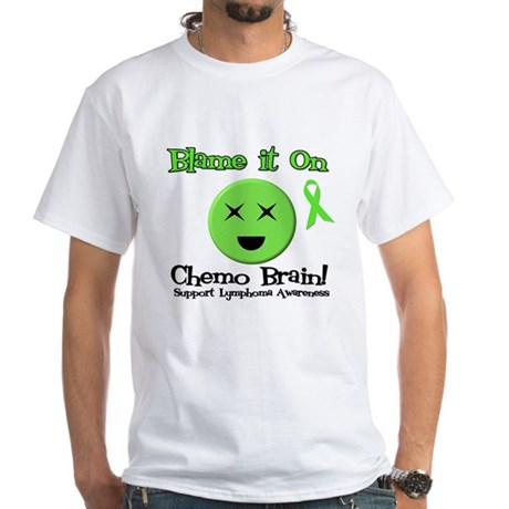 Blame Chemo Brain White T-Shirt