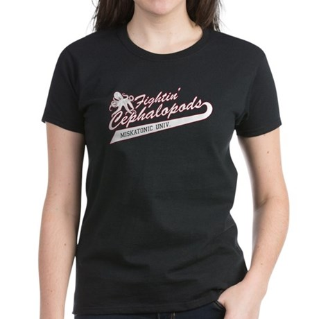 Miskatonic Fightin' Cephalopods Women's Dark T-Shi