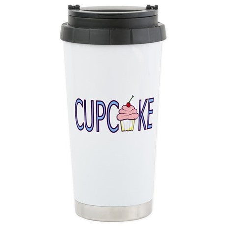 Cupcake Ceramic Travel Mug