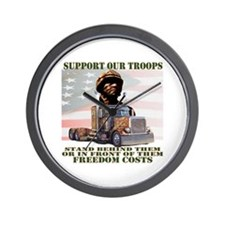 Truckers Supporting Our Troop Wall Clock