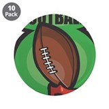 "Football on Tee 3.5"" Button (10 pack)"