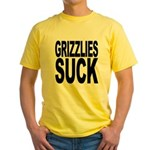 Grizzlies Suck Yellow T-Shirt