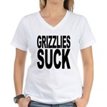 Grizzlies Suck Women's V-Neck T-Shirt