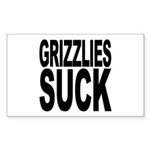 Grizzlies Suck Rectangle Sticker 50 pk)
