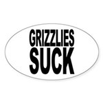 Grizzlies Suck Oval Sticker