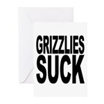 Grizzlies Suck Greeting Cards (Pk of 20)