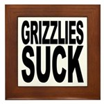 Grizzlies Suck Framed Tile