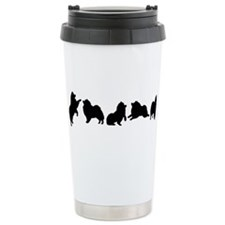 keeshond Ceramic Travel Mug