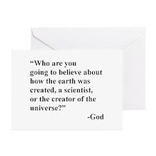 Scientist Vs God Greeting Cards (Pk of 10)