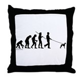 Whippet Evolution Throw Pillow