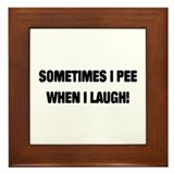 Laugh & Pee Framed Tile