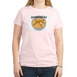 Powered By Waffles Women's Pink T-Shirt