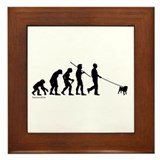 Pug Evolution Framed Tile