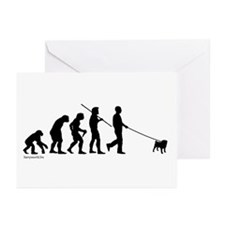 Pug Evolution Greeting Cards (Pk of 20)