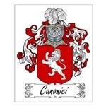 Canonici Family Crest Small Poster