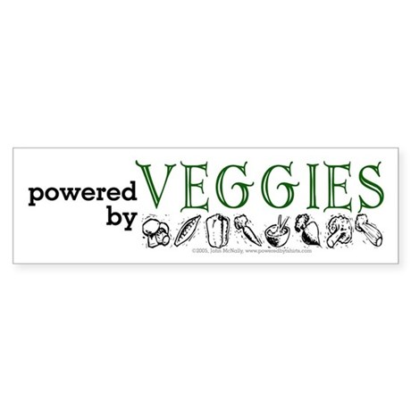 Powered By Veggies Sticker (Bumper)