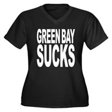 Green Bay Sucks Women's Plus Size V-Neck Dark T-Sh