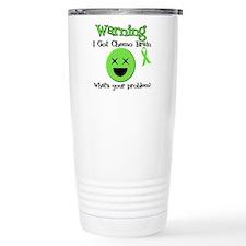 Warning Chemo Brain Travel Mug