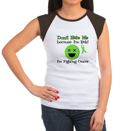 Bald Fighting Cancer Women's Cap Sleeve T-Shirt