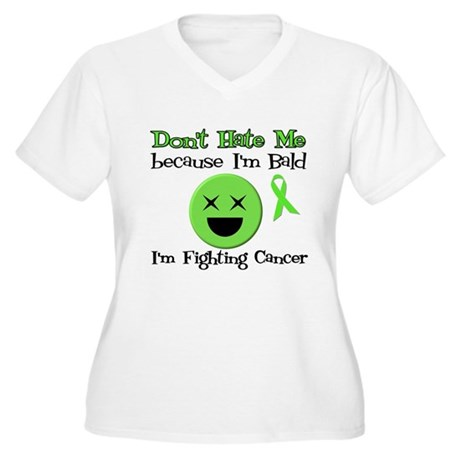 Bald Fighting Cancer Women's Plus Size V-Neck T-Sh