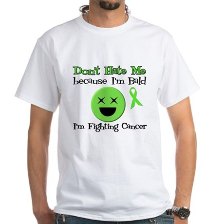 Bald Fighting Cancer White T-Shirt