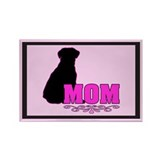 Girly Lab Mom Rectangle Magnet (100 pack)