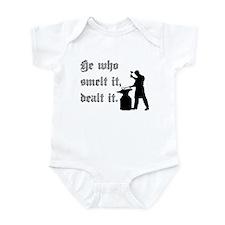 He Who Smelt It Dealt It Infant Bodysuit