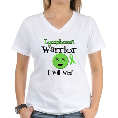 Lymphoma Warrior Women's V-Neck T-Shirt