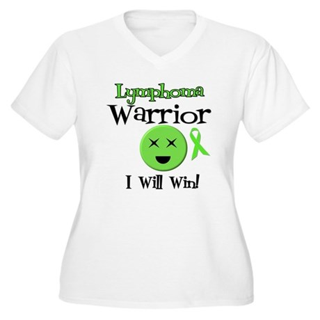 Lymphoma Warrior Women's Plus Size V-Neck T-Shirt