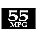 55 mpg (gas mileage bumper sticker)