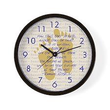 Feet of BeautyTM Wall Clock