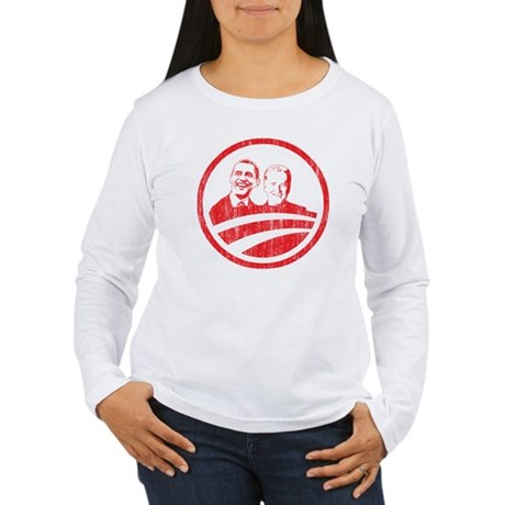Obama Biden (red vintage face Women's Long Sleeve