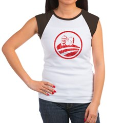 Obama Biden (red vintage face Women's Cap Sleeve T