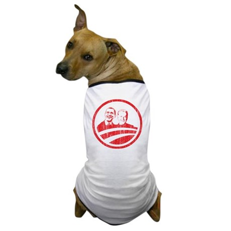Obama Biden (red vintage face Dog T-Shirt