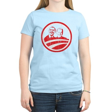 Obama Biden (red vintage face Women's Light T-Shir