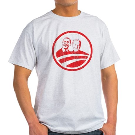 Obama Biden (red vintage face Light T-Shirt