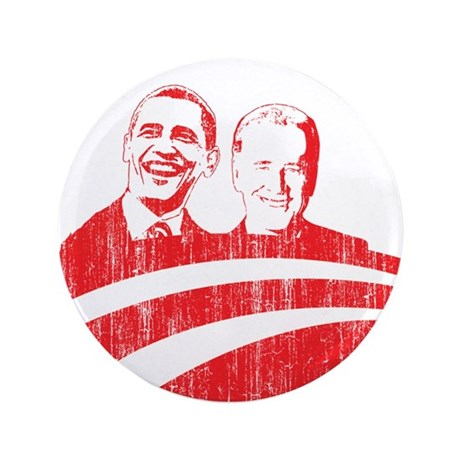 "Obama Biden (red vintage face 3.5"" Button (100 pac"