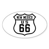 Route 66 Old Style - NM Oval Decal