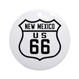 Route 66 Old Style - NM Ornament (Round)